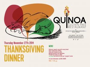 THANKSGIVING DINNER al Quinoa @ Quinoa Resturant | Firenze | Toscana | Italy