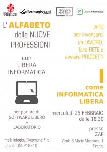 L'alfabeto delle Nuove Professioni: I di Informatica Libera @ Zap - Zona Aromatica Protetta | Firenze | Toscana | Italy
