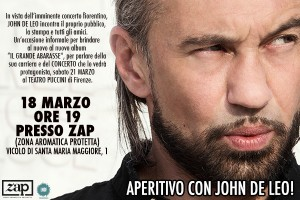 Aperitivo con John De Leo @ ZAP - Zona Aromatica Protetta | Firenze | Toscana | Italy