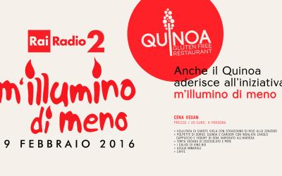 Cena a lume di candela da Quinoa per la giornata del risparmio energetico
