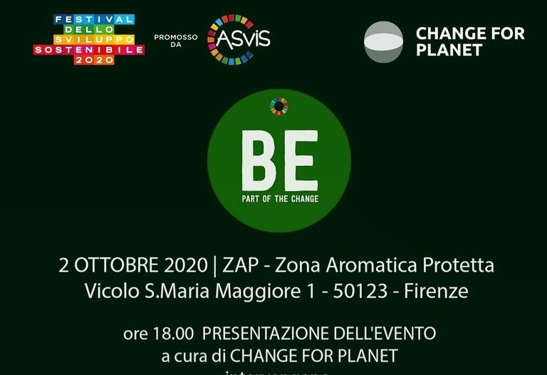 "Venerdì 2 ottobre presentazione di ""Be part of the change"""
