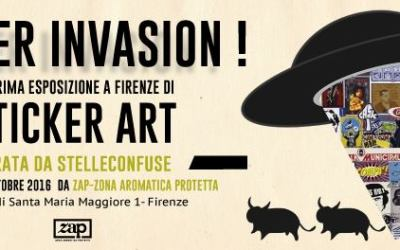 Sticker invasion! La prima mostra di Stelleconfuse